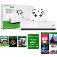 Microsoft Xbox One S 1 TB All-Digital Edition 4K Ultra HD Oyun Konsolu + 3 Ön Yüklü Oyun NJP-00033