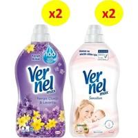 Vernel Max 1440 ml 2'li Nergis + 2'li Sensitive 4'lü Set