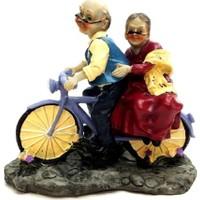 Gold Dekor Sevimli Yaşlılar ve Bisiklet
