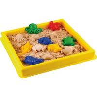 Hereos Deniz Hayvanları Kinetik Oyun Kumu Seti - Oyun Havuzu + Deniz Hayvanları Oyun Kalıpları + 4 Renk Kinetik Kum
