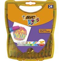 Bic Kids Yağlı Pastel Boya Çantalı Plastik Kutu 24 Renk