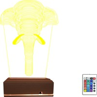 Algelsin 3D LED Fil Tasarımlı 16 Renkli Masa Lambası
