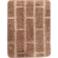 Evden Avm Kaymaz Taban Banyo Halısı Kahverengi 50 x 65 cm