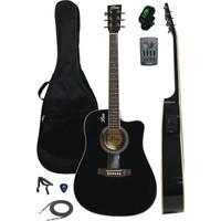 Midex Lea LC-40 Ekolayzerli Elektro Akustik Gitar (Kılıf Kablo Capo Hediye)
