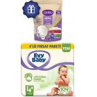 Evy Baby Bebek Bezi 4+ Beden Maxiplus 4'lü Fırsat 104'LÜ Granül Sabun 400 gr