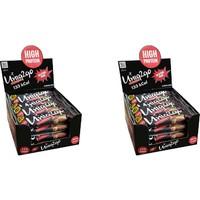 UNIQ2GO Power Midi 16'lı Kutu 2x Kutu %100 Naturel Badem Parçacıklı Proteinli Bar Kutu Içi Adet 38 gr