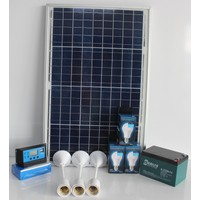 İsos 40 Watt Güneş Panelli 240 Watt 12 Volt Solar Aydınlatma Ve Şarj Paketi 14 Amper Akülü+3Lambalı