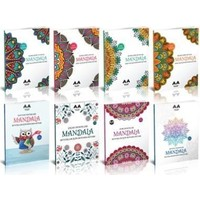 Yetişkinler İçin Mandala Boyama Seti-8 Kitap
