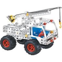 Aelo Toys Vidalı Metal Yapı Oyuncağı Kancalı Vinc No 3114