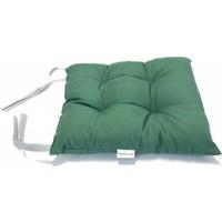 Tropik Home Yeşil Renk Pufidik Silikon Dolgulu Çökme Yapmaz 40 x 40 cm Kare Sandalye Minderi