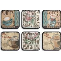Nesart Vintage Cafe 6'lı Bardak Altlığı Seti