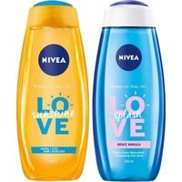 Nivea Love Sunshine Duş Jeli 500 ml + Splash Deniz Kokulu Duş Jeli 500 ml