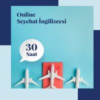 Online Seyehat Ingilizcesi Eğitimi - 30 Saat Canlı Bire Bir Özel Ders