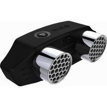 Yukka Subwoofer Taşınabilir Kablosuz Bluetooth Hoparlör Siyah (Yurt Dışından)
