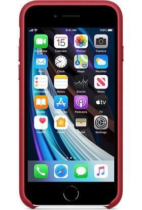 Apple iPhone SE 2.Nesil Deri Kılıf MXYL2ZM/A - Kırmızı