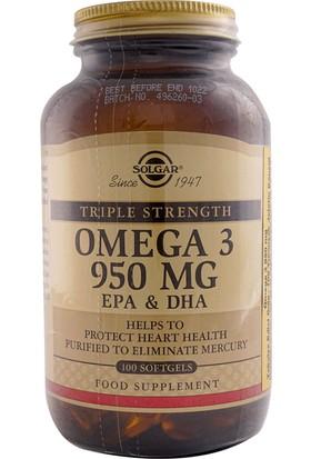 Solgar Omega 3 950 Mg 100 Softgels Balık Yağı