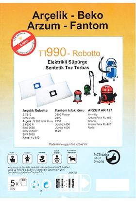Arçelik Robotto S 7610 Uyumlu Toz Torbası