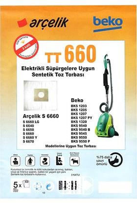 Arçelik S 6660 Lg Uyumlu Toz Torbası