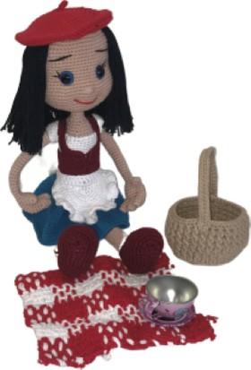 BK Store Amigurumi Organik El Örmesi Bebek - Kırmızı Başlıklı Kız