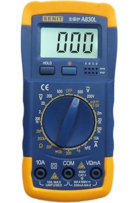 Tvet T38187 Dijital Multimetre Ölçü Aleti Buzzerli Voltmetre Ampermetre