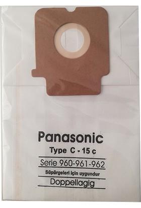 Panasonic Type C - 15 C Kağıt Uyumlu Toz Torbası - 10 Adet