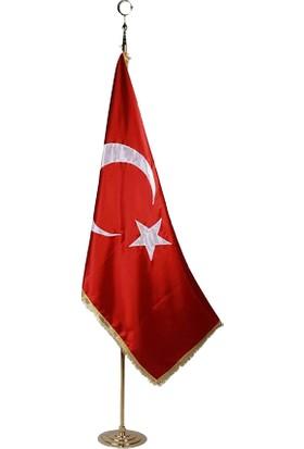 Alsancak Makam Türk Bayrağı Simli 100 x 150 cm
