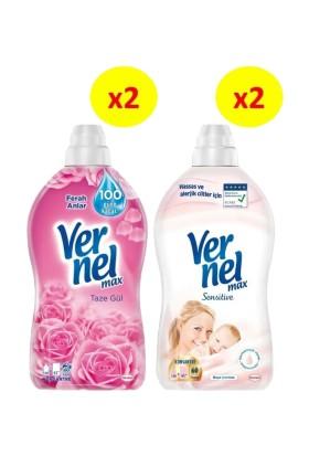 Vernel Max 1440 ml 2'li Gül + 2'li Sensitive 4'lü Set