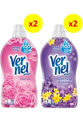Vernel Max 1440 ml 2'li Gül + 2'li Nergis 4'lü Set