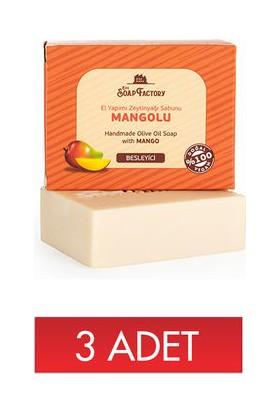 The Soap Factory Mangolu Zeytinyağı Sabunu 100 gr 3 Adet