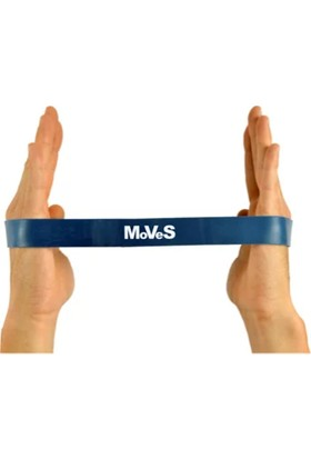 Moves Band Loop Mavi Kas Germe Güçlendirme Egzersiz Pilates Bandı