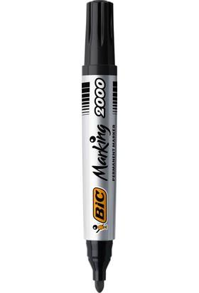 Bic Marker 2000 Yuvarlak Uçlu Permanent Markör Siyah 12'li Kutu