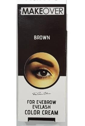 Makeover Brown Kaş Kirpik Boyası Kahverengi