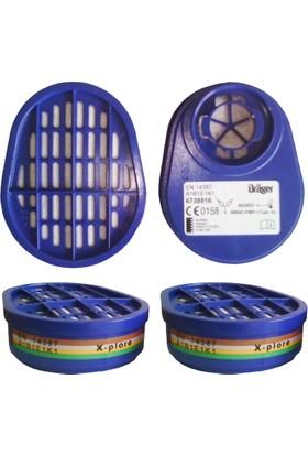 Drager X-Plore Abek1 Gaz Maskesi Filtresi 6738816