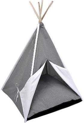 Dubex Kedi Köpek Çadırı Siyah Beyaz