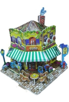 Düven Hobi Evi 3D Puzzle Cafe