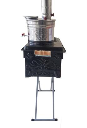 Isıser Piknik Market Lüx Semaverli Ayaklı Mangal 12 Numara 63*31 5 Lt Semaver