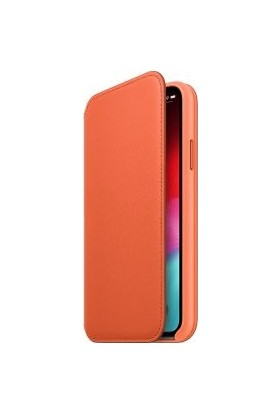 Apple iPhone XS Deri Folyo Kılıf - Gün Batımı MVFC2ZM/A