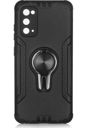 Fujimax Samsung Galaxy S20 Çift Araç Tutucu Özellikli Koko Anti-Shock Özellikli Kılıf Siyah
