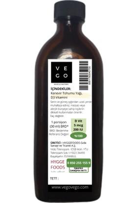 Vegovego Kenevir Tohumu Yağı - D3 Vitaminli