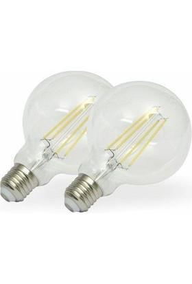 Maxima G125 LED Ampul 5 W Uzun Filament Beyaz 2700 K 2'li