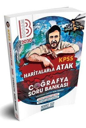 Benim Hocam Yayınları 2020 Kpss Haritalarla Atak Coğrafya Soru Bankası - Mehmet Eğit
