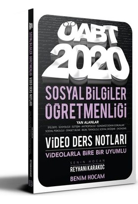 Benim Hocam Yayınları 2020 Öabt Sosyal Bilgiler Öğretmenliği Video Ders Notları - Reyhani Karakoç