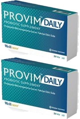 Wellcare Provim Daily Probiyotik 30 Kapsül - 2 Adet
