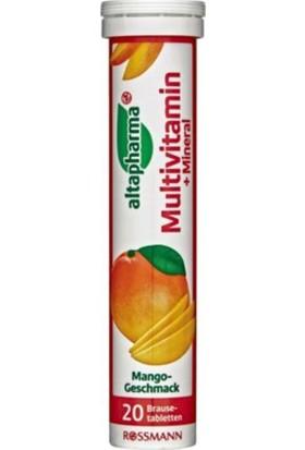 Altapharma Multivitamin ve Mineral Suda Eriyen Mango Aromalı 20'li Tablet