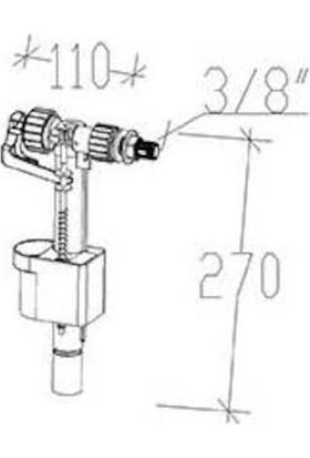 Tema Siamp Gömme Rezervuar Flatör 95Y Compact 3/8 Yandan