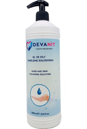 Devanit 4 Adet, 1000 ml Solüsyon, Devanit Dezenfektan-El Temizleme Jeli