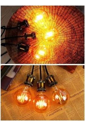 Edison G95 Flamanlı Rustik 4W Led Ampul 5'Li Dekoratif Vintage Aydınlatma