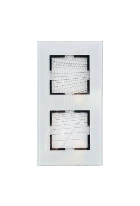 Viko Artline Artline Novella Cam Düz Beyaz İkili Çerçeve