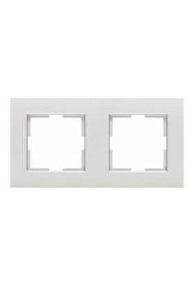 Viko Artline Artline Trenda Metalik Beyaz İkili Çerçeve