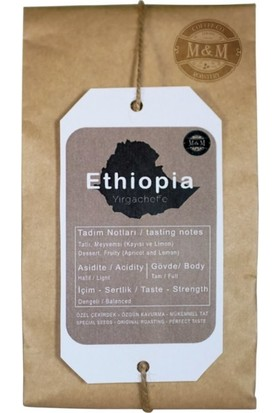 M & M Coffee Roastery Ethiopia Yirgacheffe Espresso Öğütülmüş Kahve 250 gr